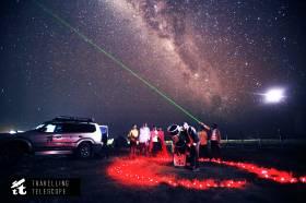 Locals viewing the Milky Way near Maasai Mara