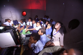 Rusinga students inside the Planetarium