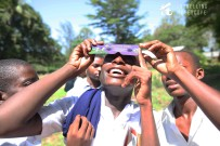 Disbilief as students safely observe the Sun