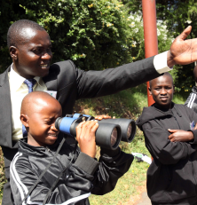 Learning about optics at Mpesa Foundation Academy