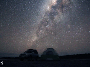 Milky Way over the shores of Lake Magadi