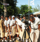 Viewing sunspots in Kilifi