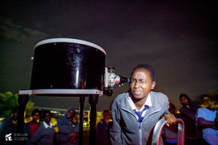 Kisaruni Girls student, near Maasai Mara observing the Orion Nebula